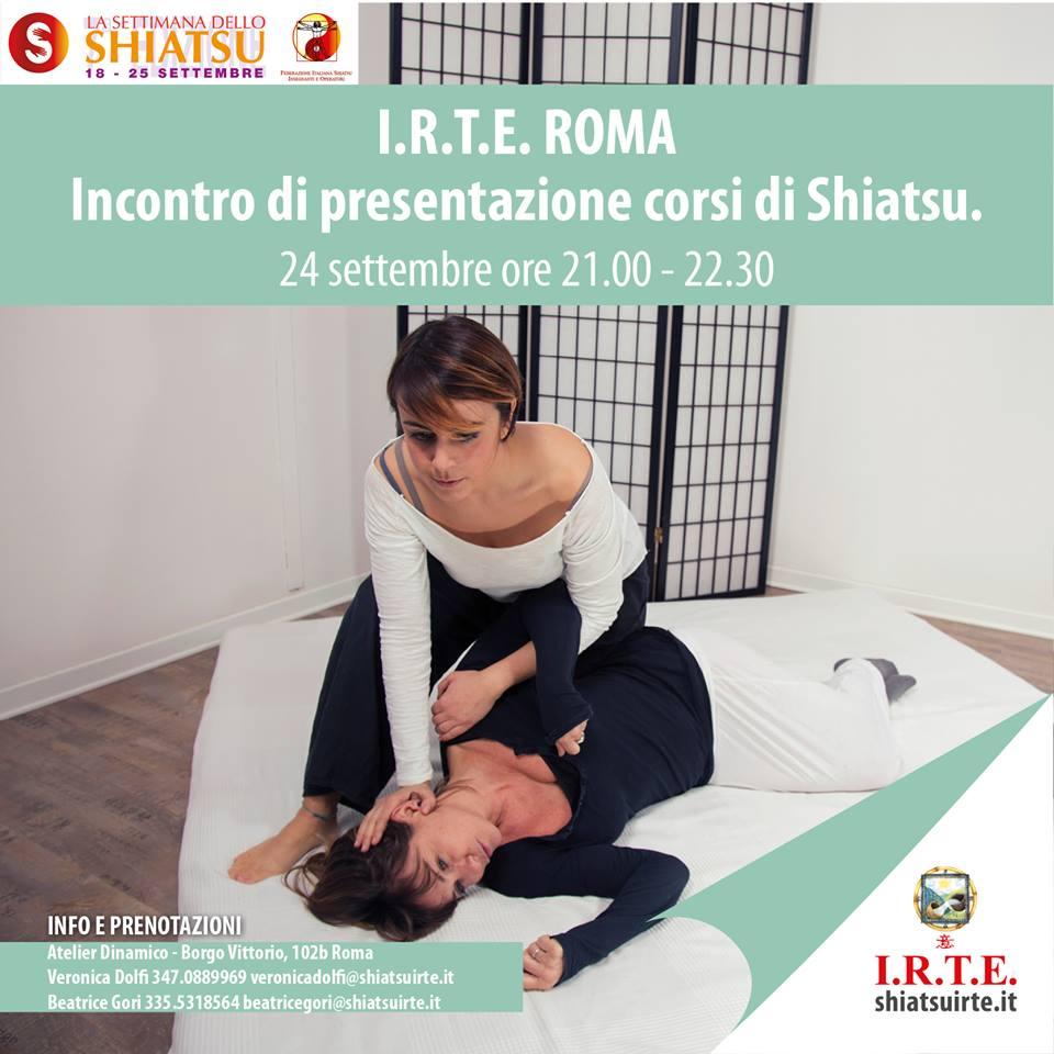 Roma, incontro di presentazione corsi 24 settembre 2018