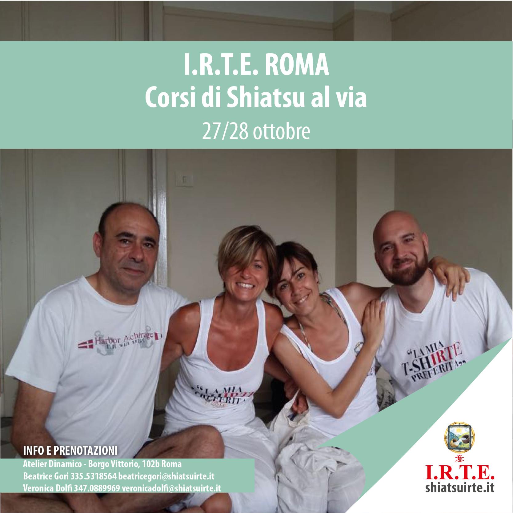 Corsi Shiatsu al via a Roma nel weekend di 27/28 ottobre