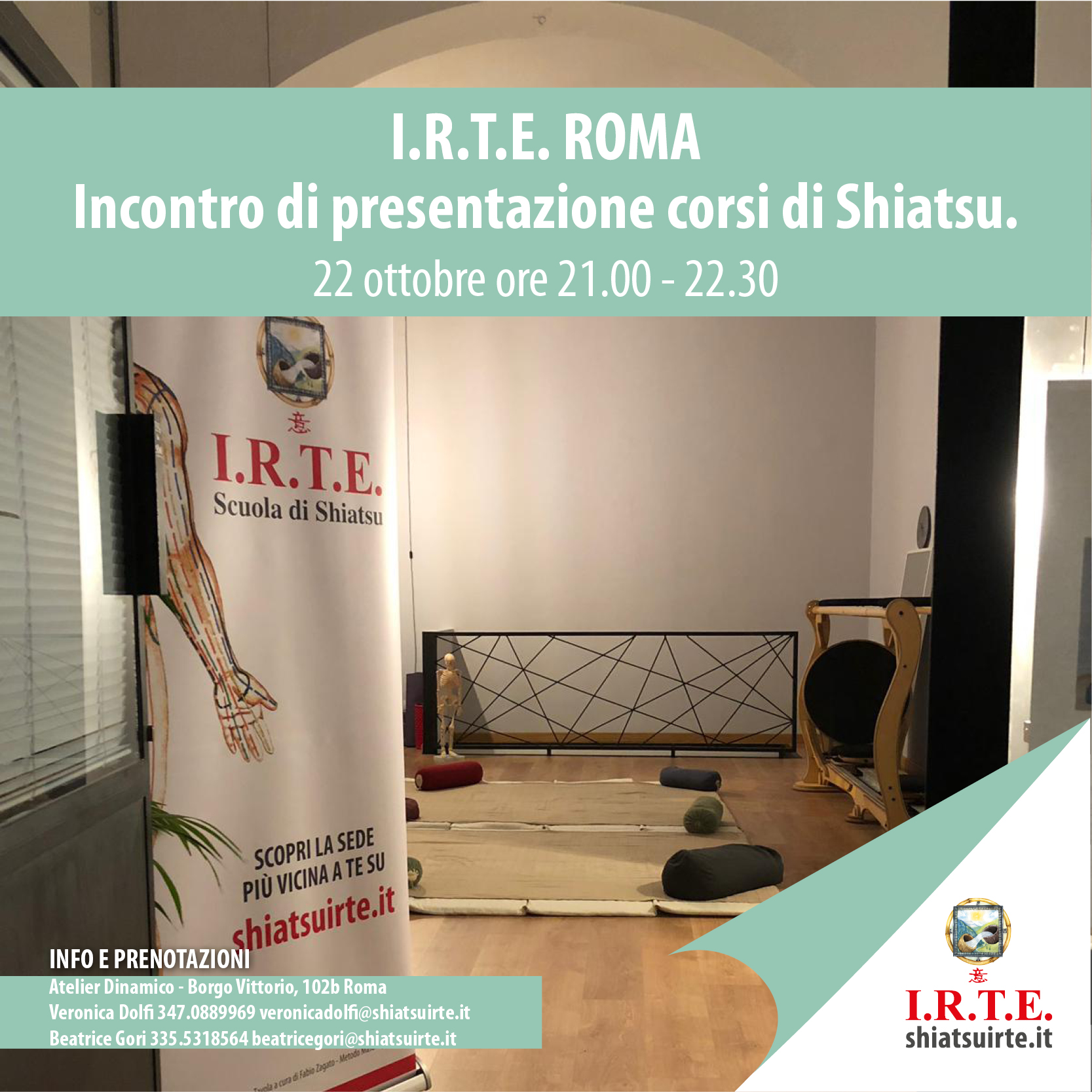 Shiatsu, presentazione corsi a Roma.