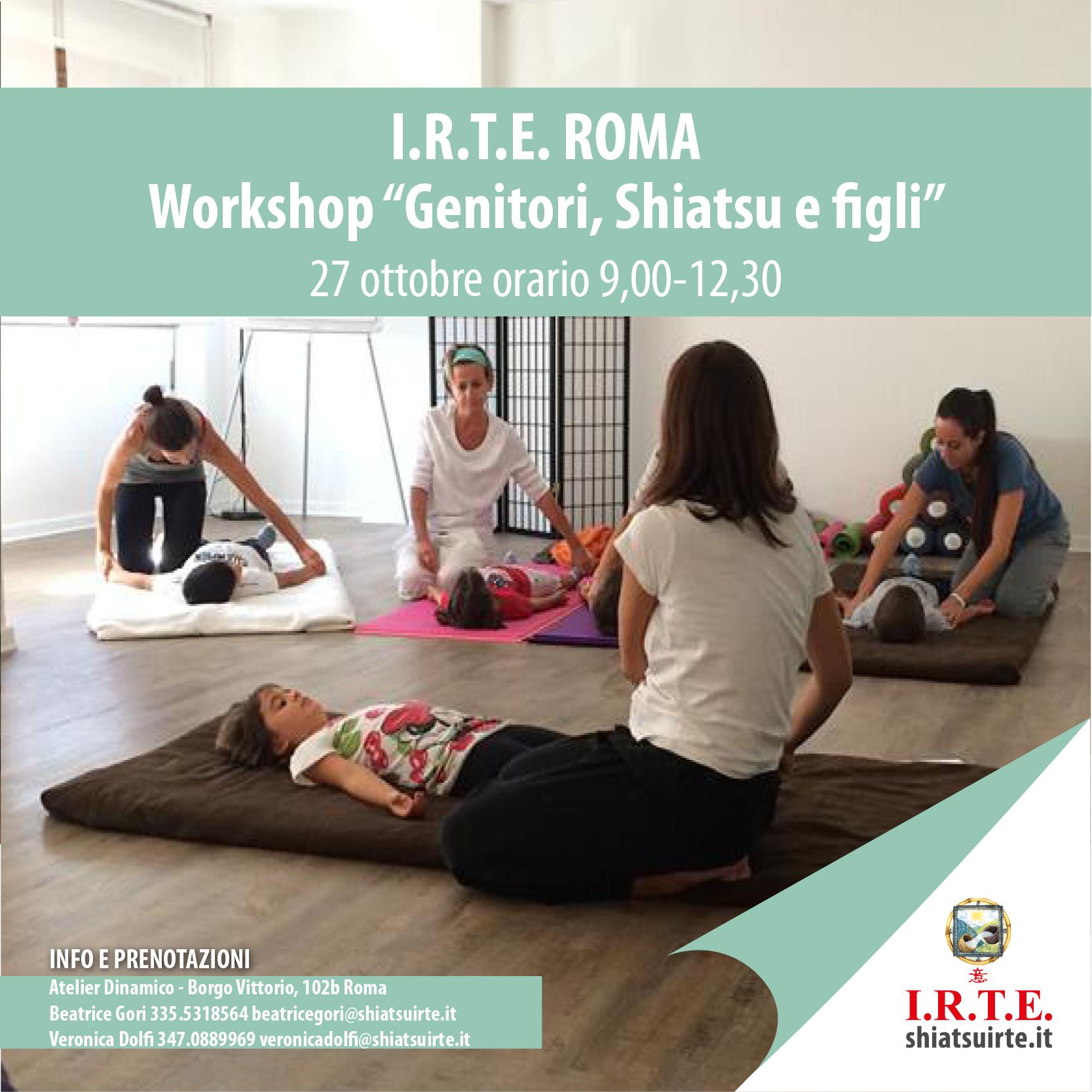 Workshop Genitori, Shiatsu e Figli. A Roma
