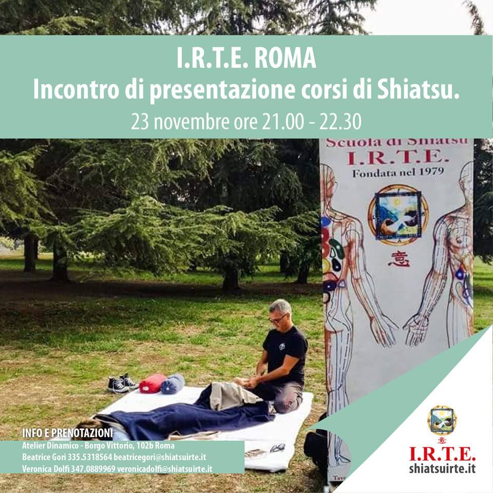 Presentazione corsi Shiatsu Roma