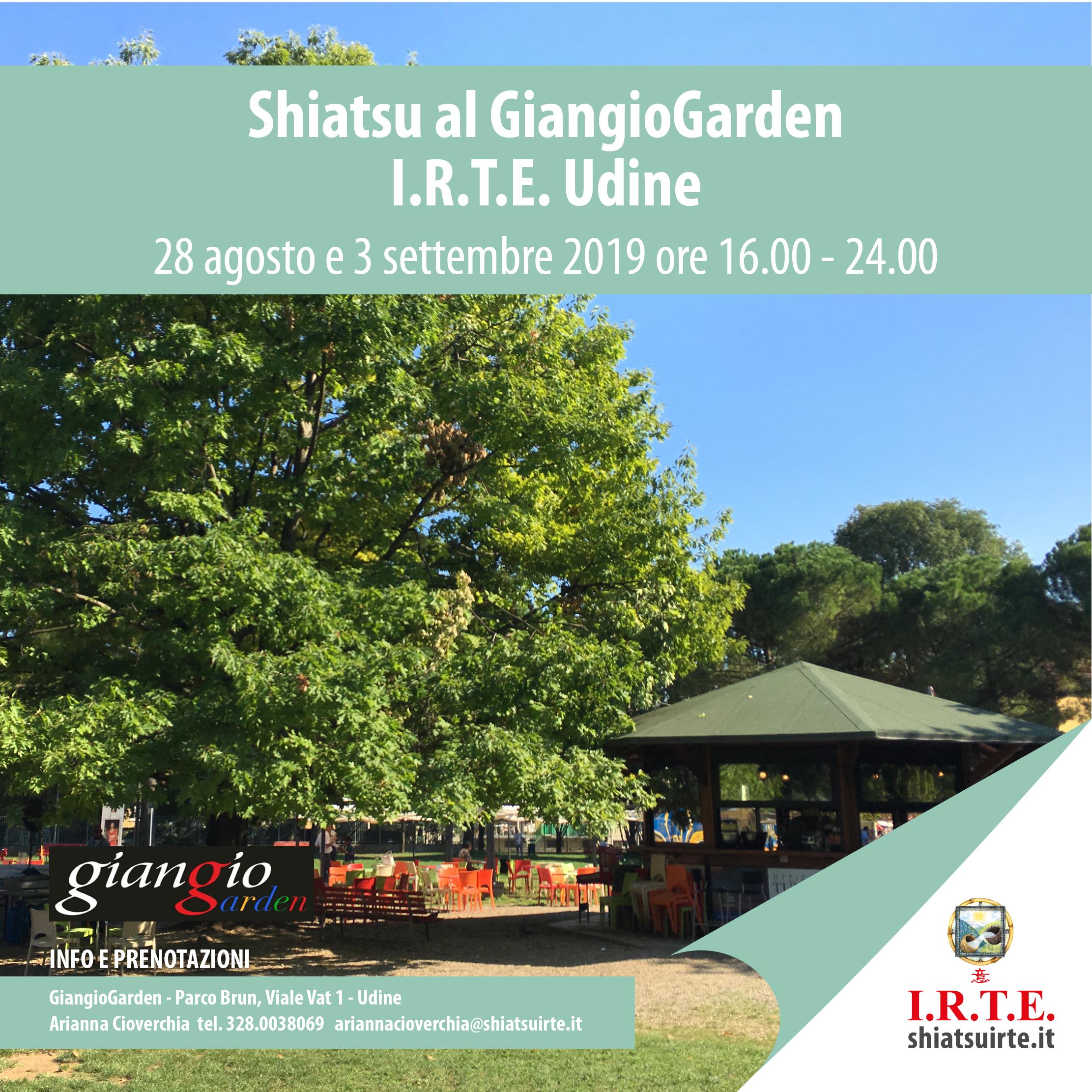 Estate Shiatsu 2019 a Udine: gli appuntamenti per conoscere I.R.T.E.