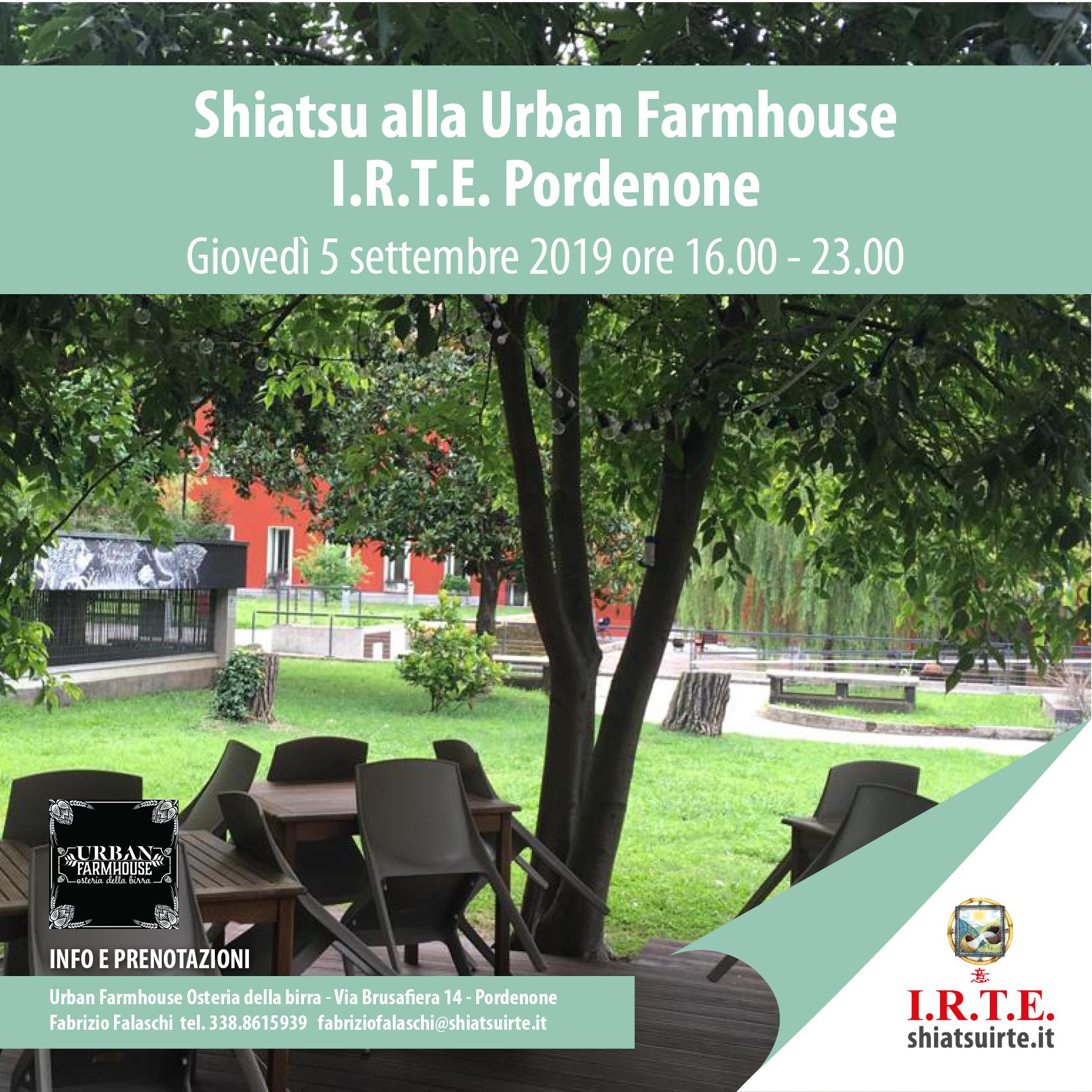 5 settembre 2019: Shiatsu all'aperto all'Urban Farmhouse di Pordenone