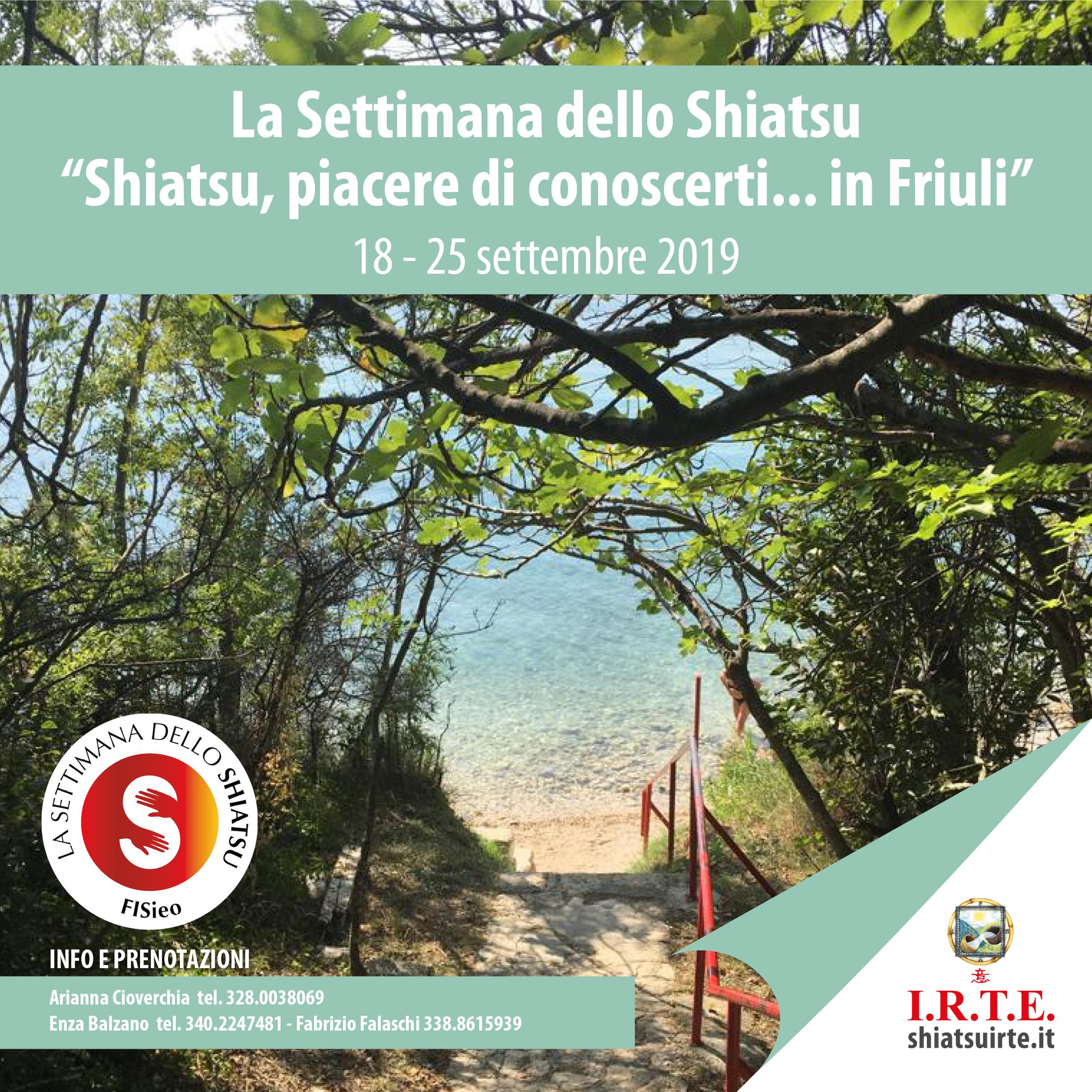 18 - 25 settembre 2019: gli appuntamenti della Settimana dello Shiatsu in Friuli